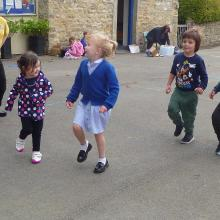 dancing in the play ground